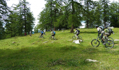 Mountain bike / Ebike Le Levron, trail n°779
